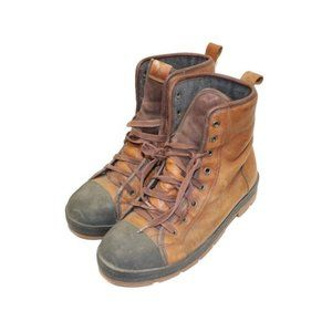Aldo Brown Leather Combat Style Winter Snow Boots